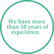 We have more than 30 years of experience.